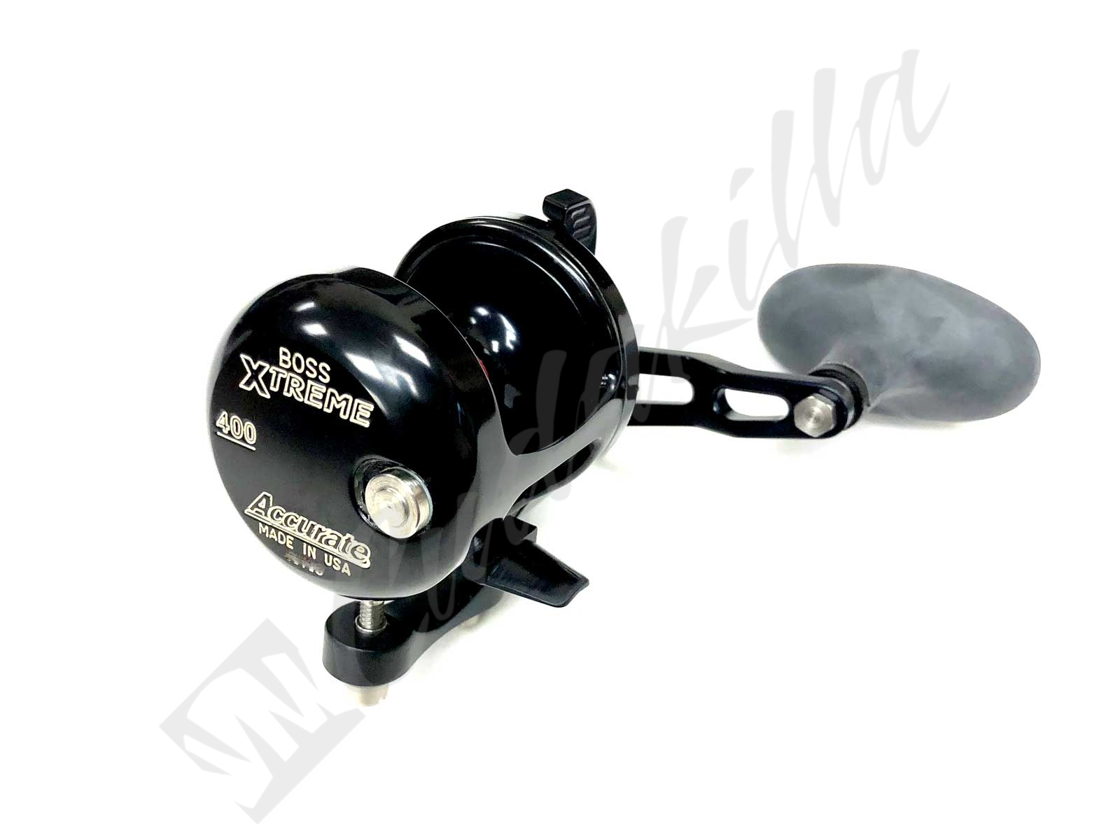 Accurate Boss Xtreme 400 Single Speed Conventional Reel - BLACK