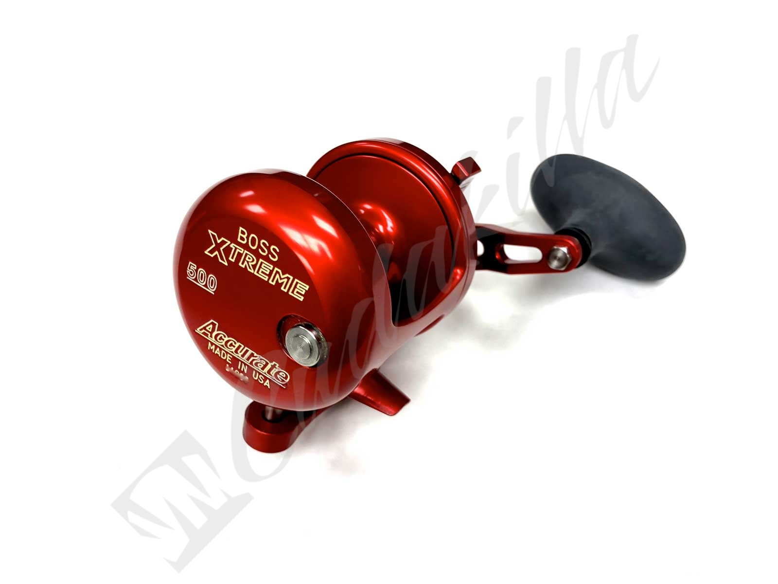 Accurate Boss Xtreme 500 Single Speed Conventional Reel - RED